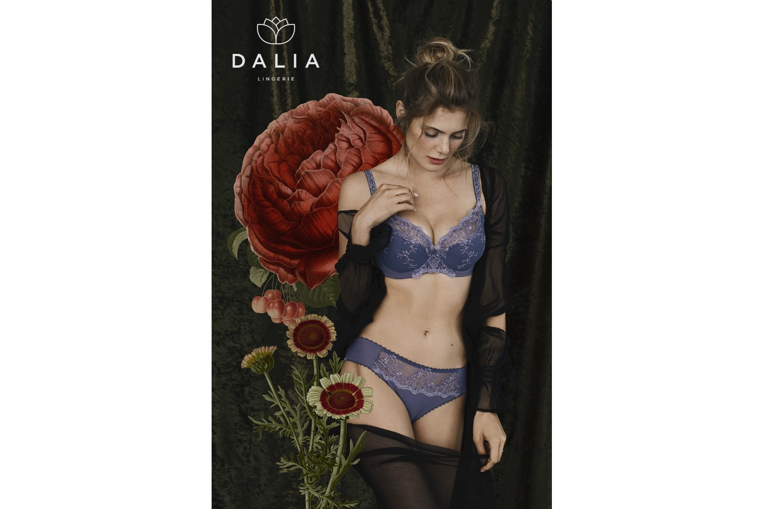 Dalia Lingerie, jesień-zima 2018, Collection: Maja Madej / Dalia Lingerie, Photo: Aleksandra Zaborowska / Papert Pictures, Photographer's assistant: Dave Raw, Retouch: Katarzyna Kędroń, Illustrations: Aleksandra Morawiak, Model: Aleksandra Kowal / Model Plus, MUA: Vika May, Hair: Adam Szaro,  Style: Robert Losyk, Production: Korporacja Stylu